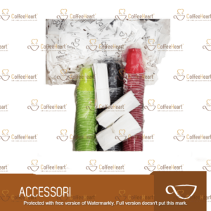 Coffee Heart Kit Accessori in Plastica 100